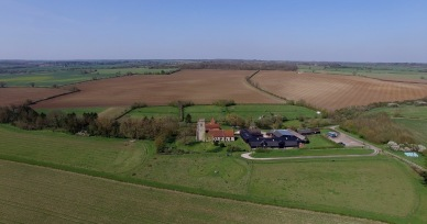 Alpheton Hall Barns drone shot