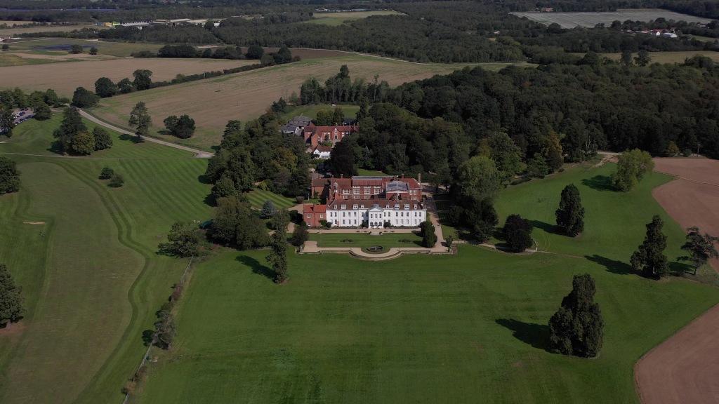 Gosfield Hall Aerial shot